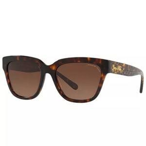 Coach NWT Polarized 55mm Sunglasses